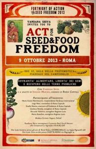 Vandana Shiva a Roma