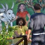 Un secondo murales. Ospitato da Sonia Santarelli, nella sua fattoria in Abruzzo, per far rivivere l'esperienza del murales romano