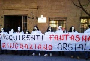 Protesta all'Arsial contro la svendita dei terreni pubblici